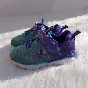Champion Toddler Girls Purple & Teal Sneakers Sz 6
